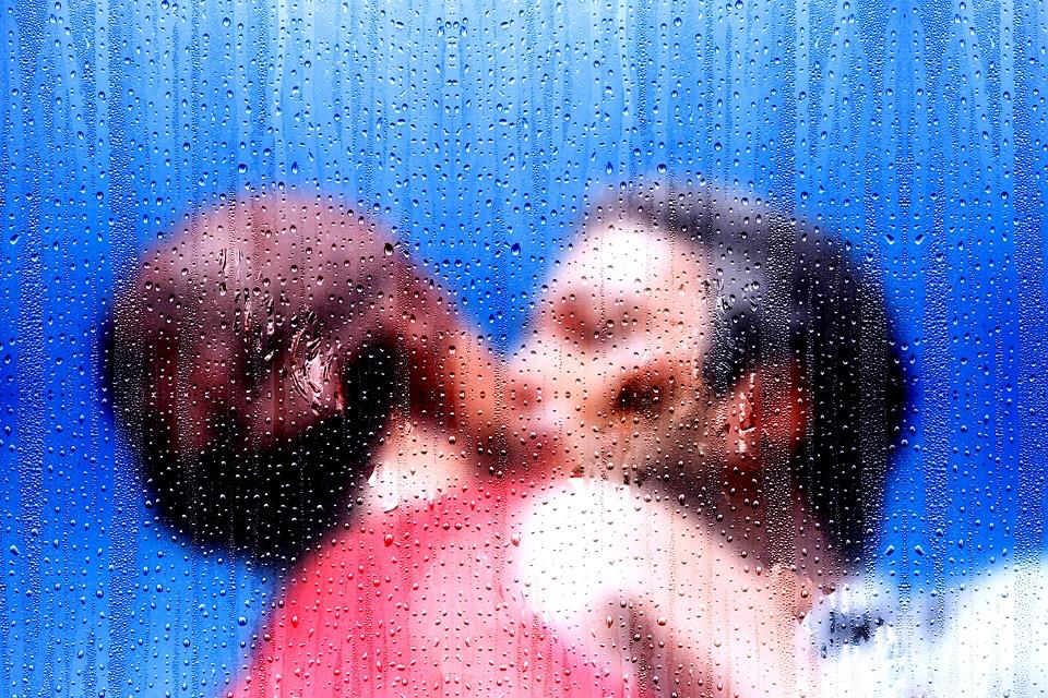 bacio pioggia